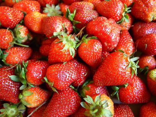 blanchir ses dents avec des fraises